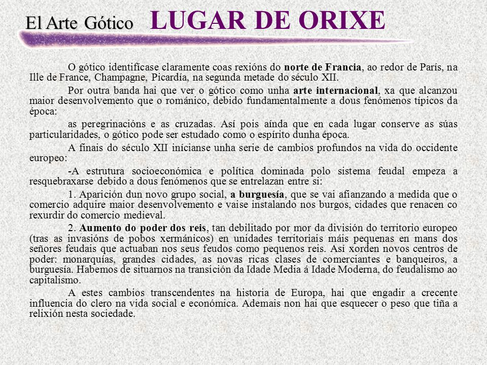 LUGAR DE ORIXE