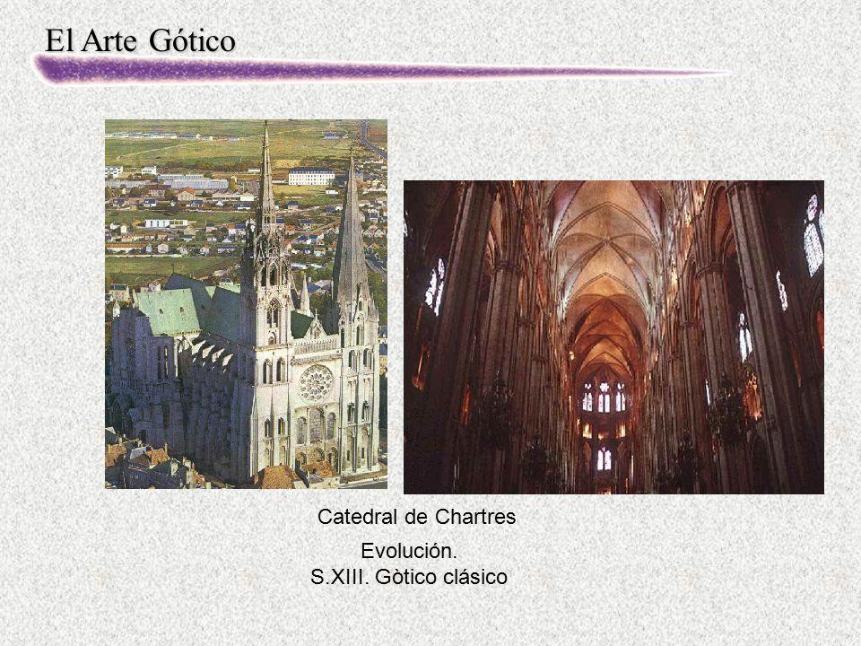 Catedral de Chartres Evolución. S.XIII. Gòtico clásico