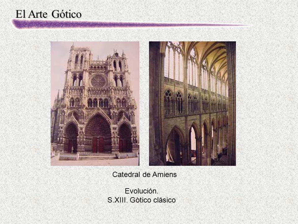 Catedral de Amiens Evolución. S.XIII. Gòtico clásico
