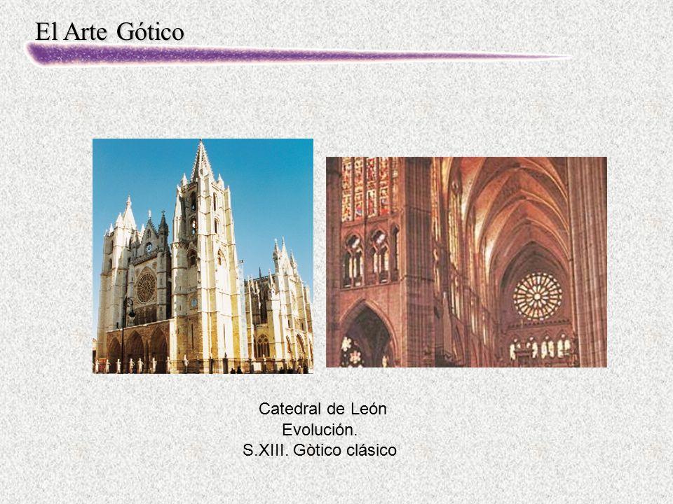 Catedral de León Evolución. S.XIII. Gòtico clásico