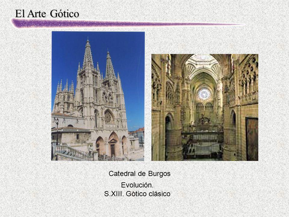 Catedral de Burgos Evolución. S.XIII. Gòtico clásico