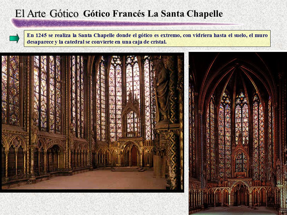 Gótico Francés La Santa Chapelle