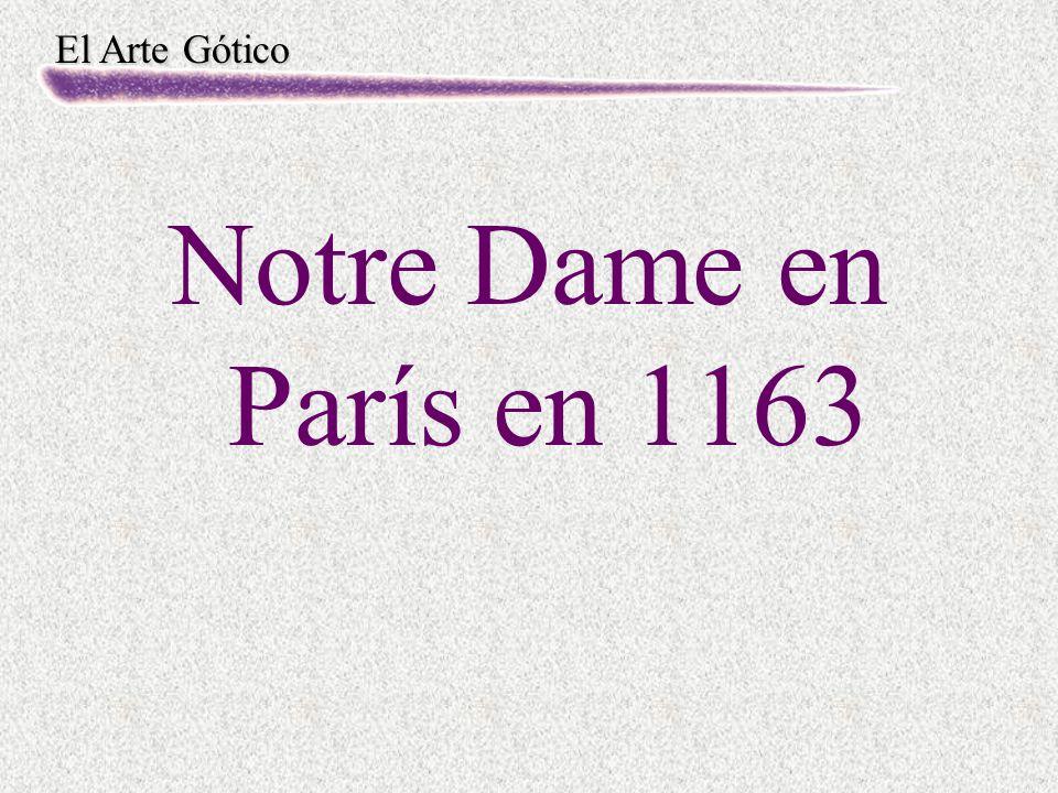Notre Dame en París en 1163