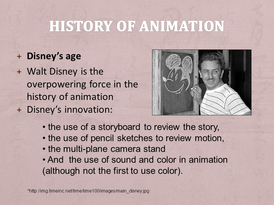 History of animation Disney's age