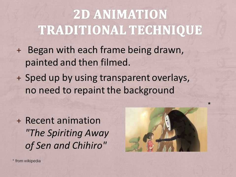 2D animation Traditional technique