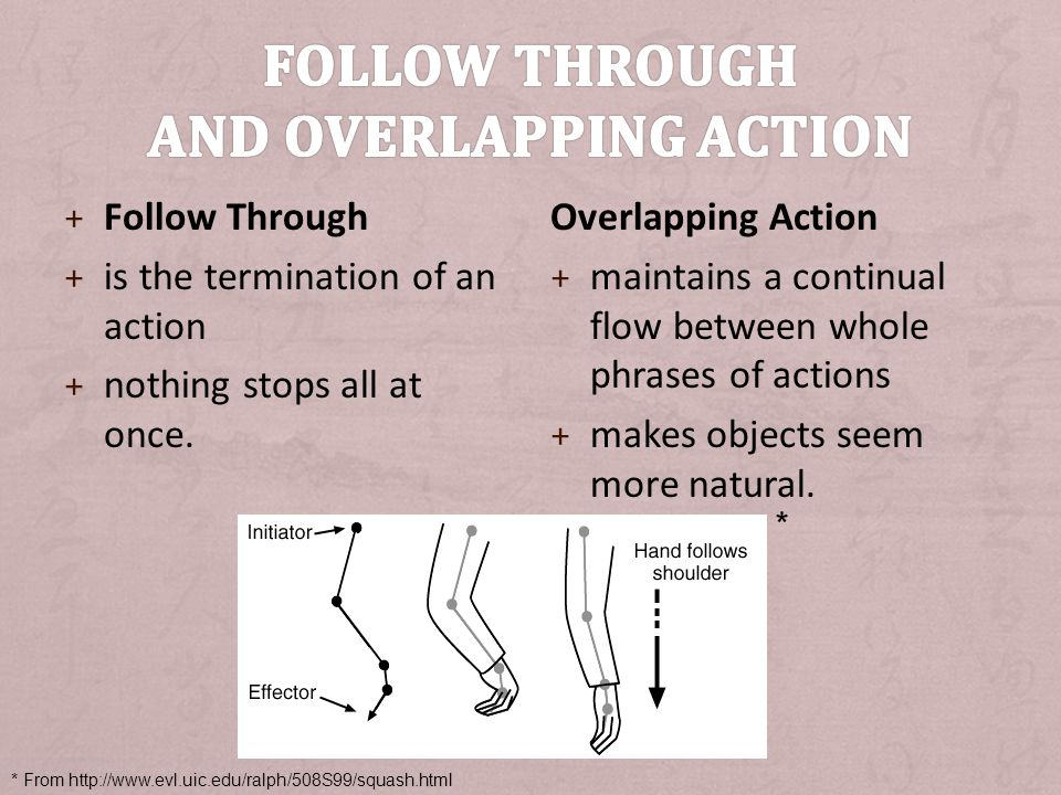Follow Through and Overlapping Action