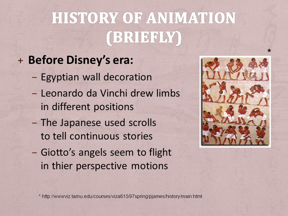 History of animation (briefly)
