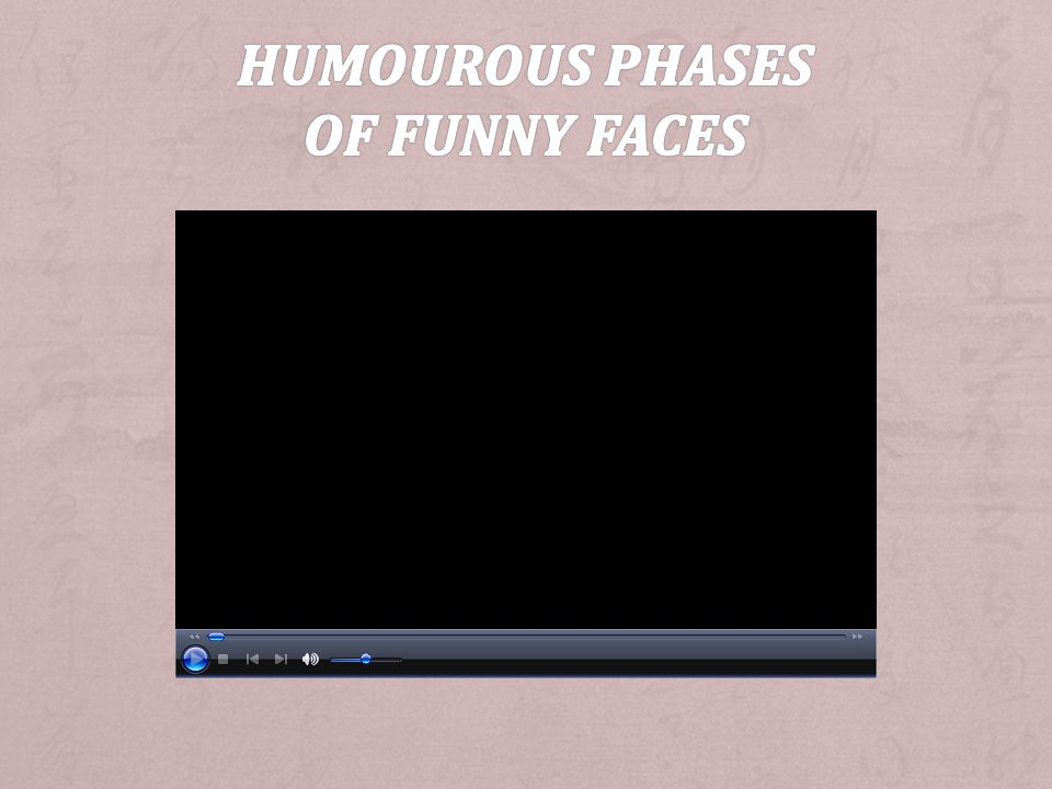 Humourous Phases of Funny Faces