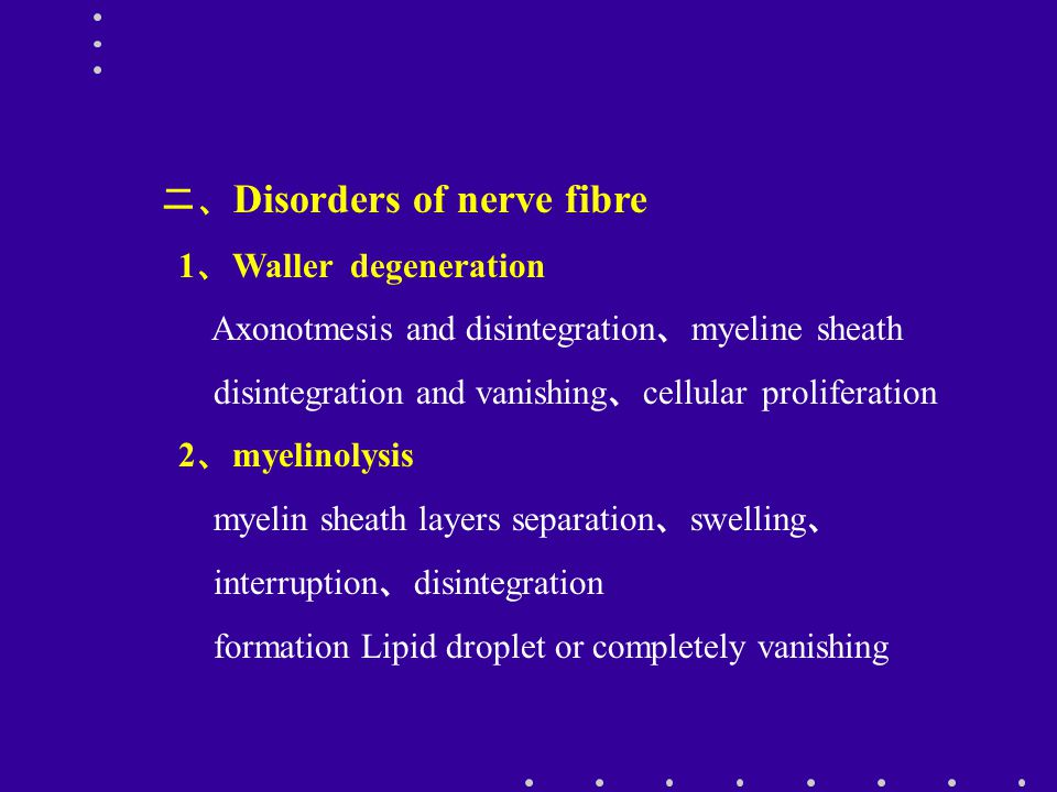 二、Disorders of nerve fibre