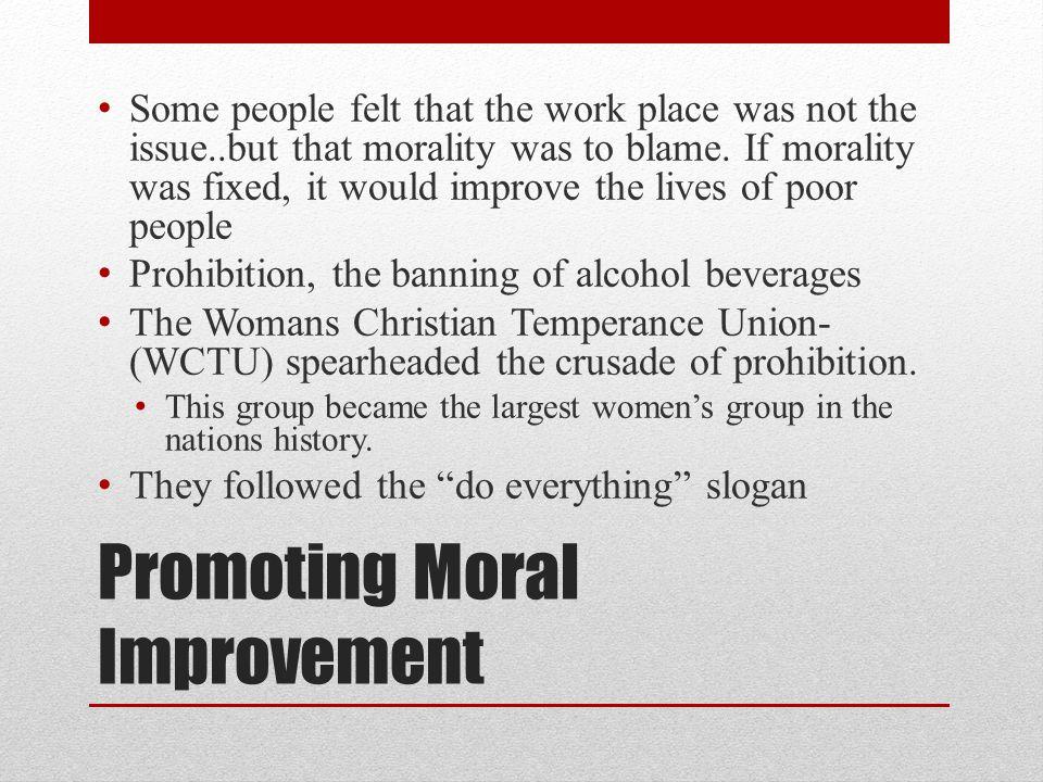 Promoting Moral Improvement