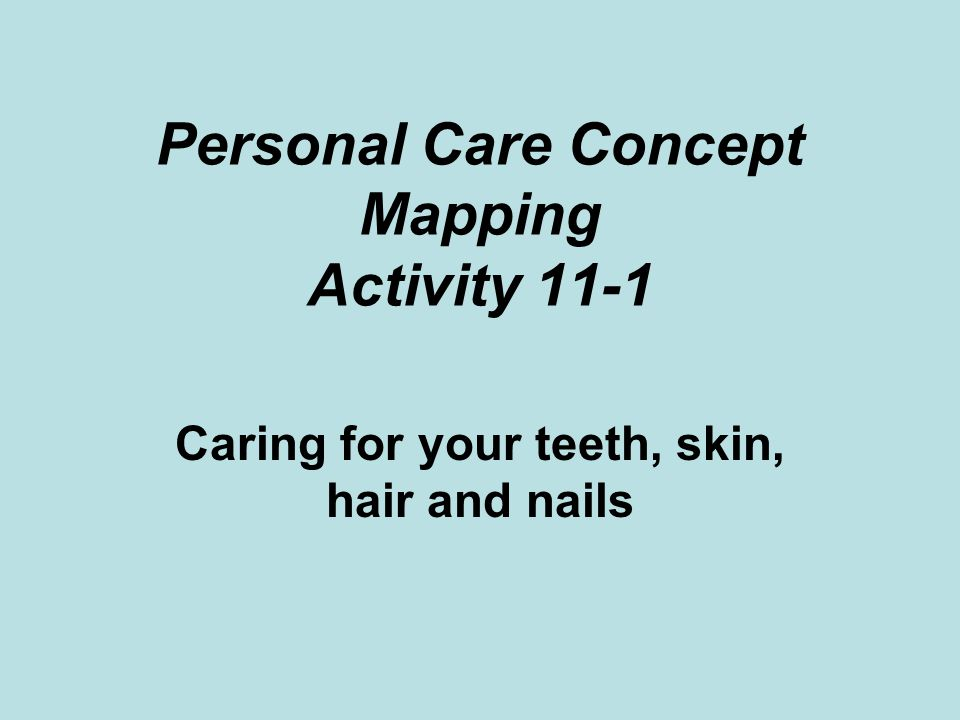 Personal Care Concept Mapping Activity 11-1