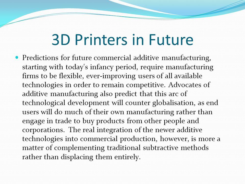 3D Printers in Future
