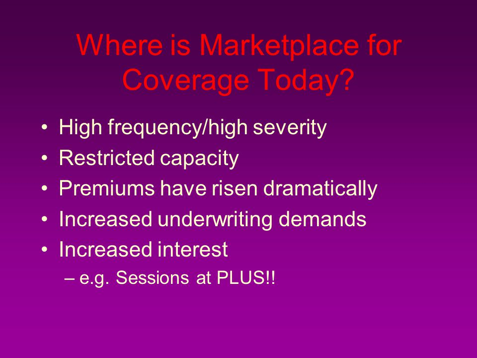 Where is Marketplace for Coverage Today