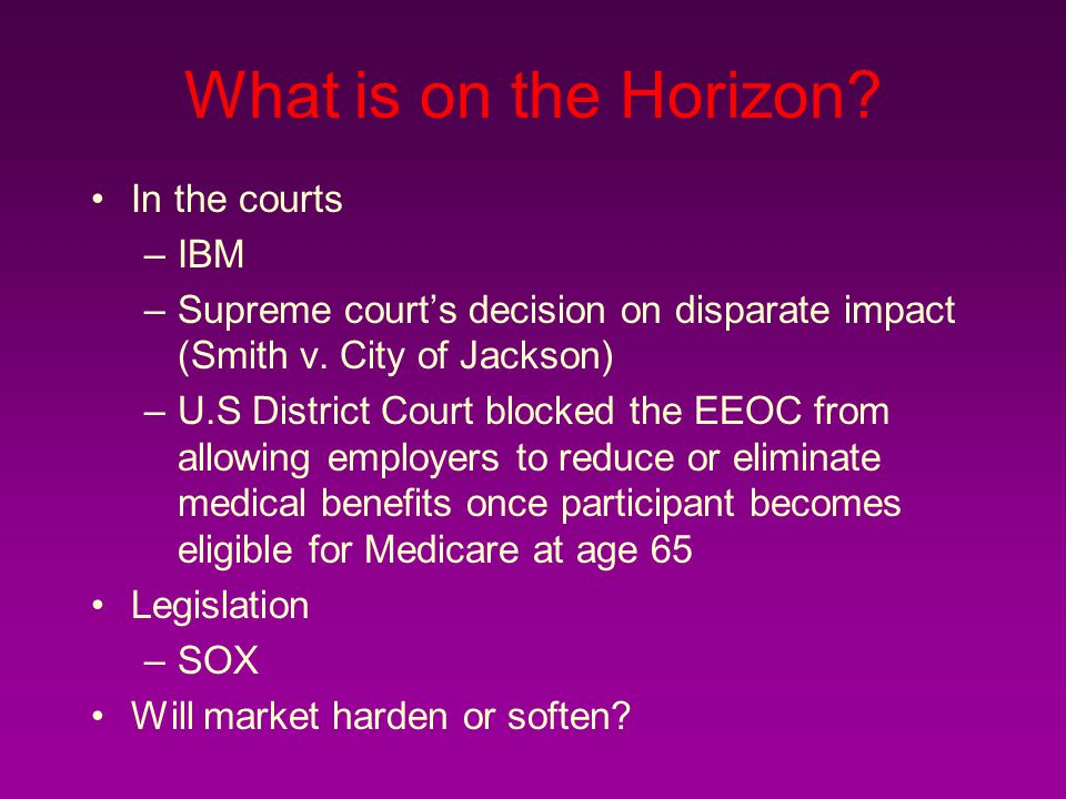 What is on the Horizon In the courts IBM
