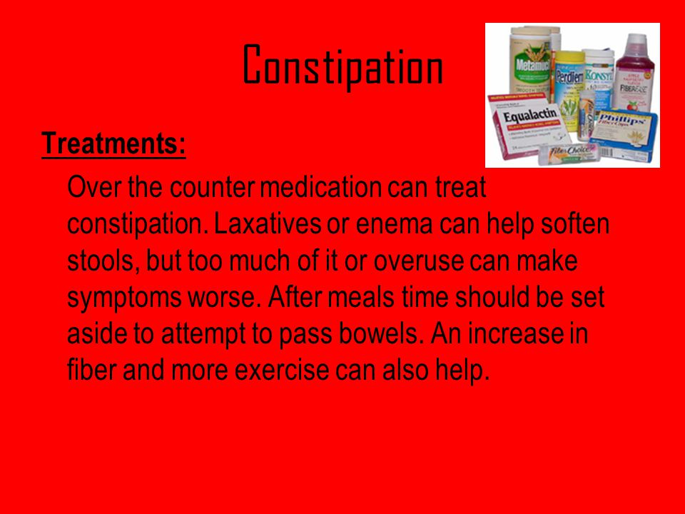 Constipation Treatments: