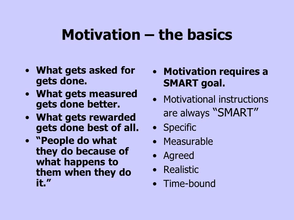 Motivation – the basics