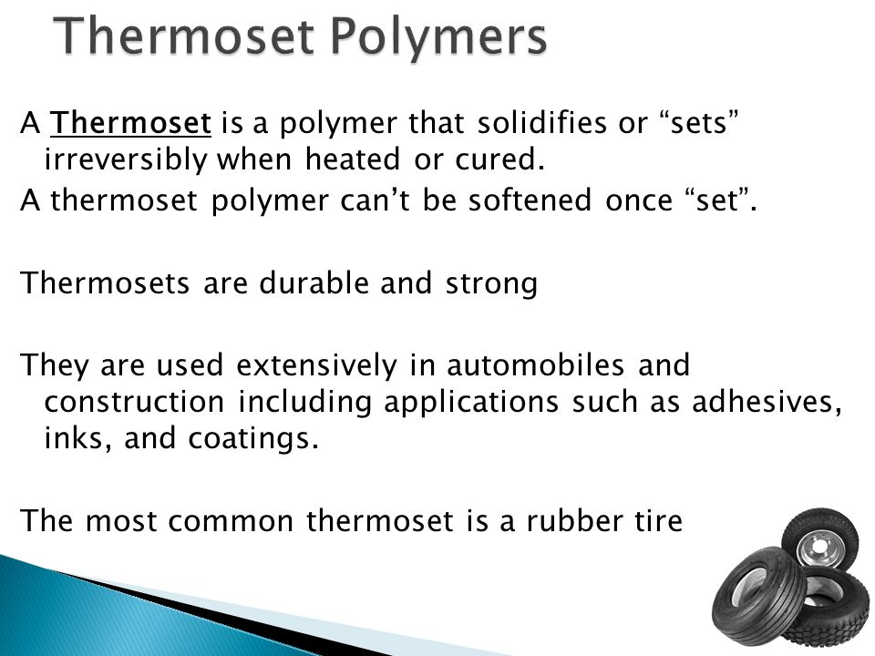 Thermoset Polymers