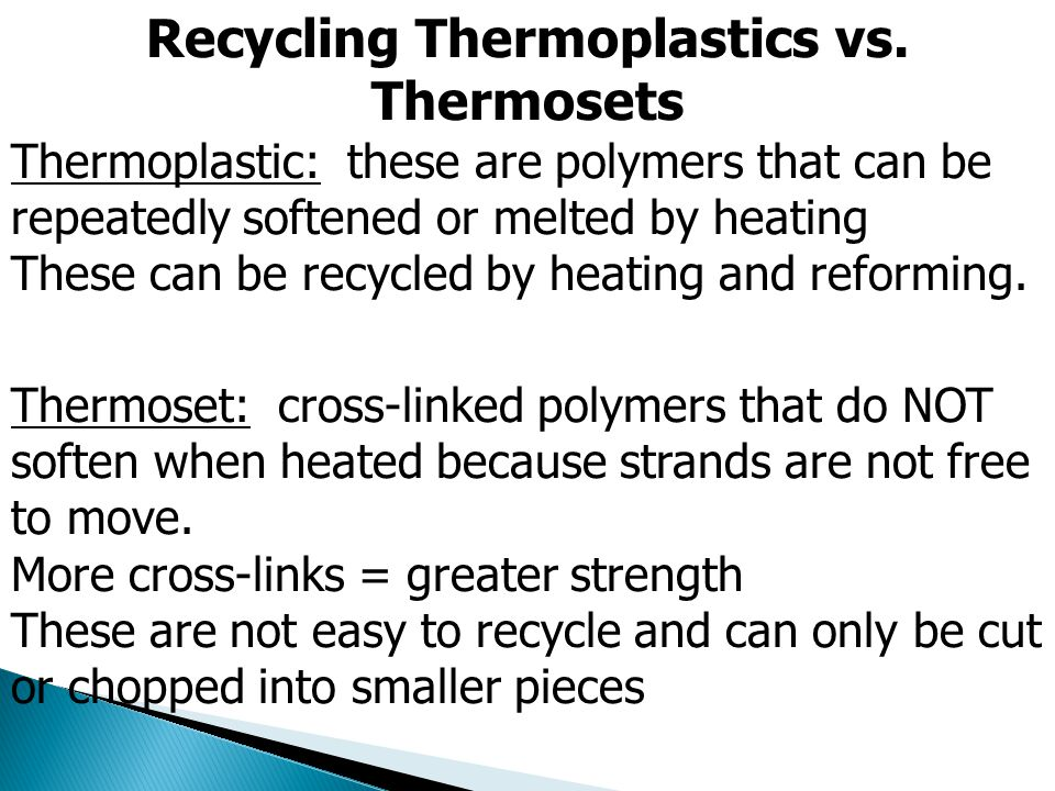 Recycling Thermoplastics vs. Thermosets