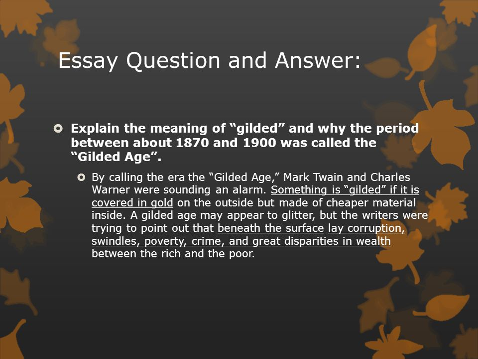 urban america the gilded age ppt video online  13 essay