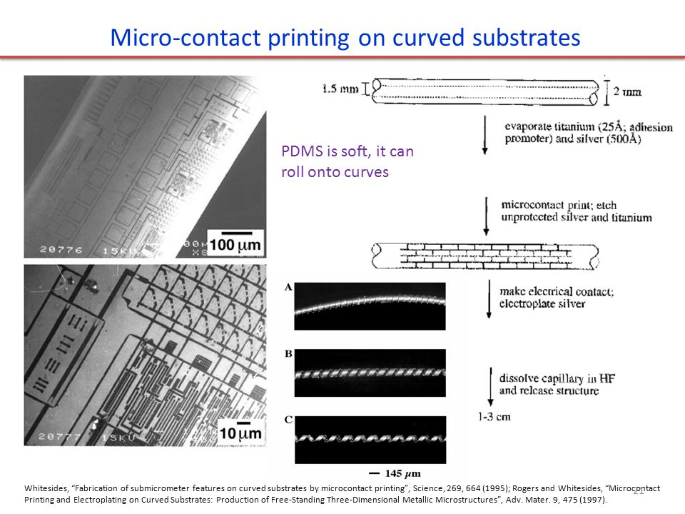 Micro-contact printing on curved substrates