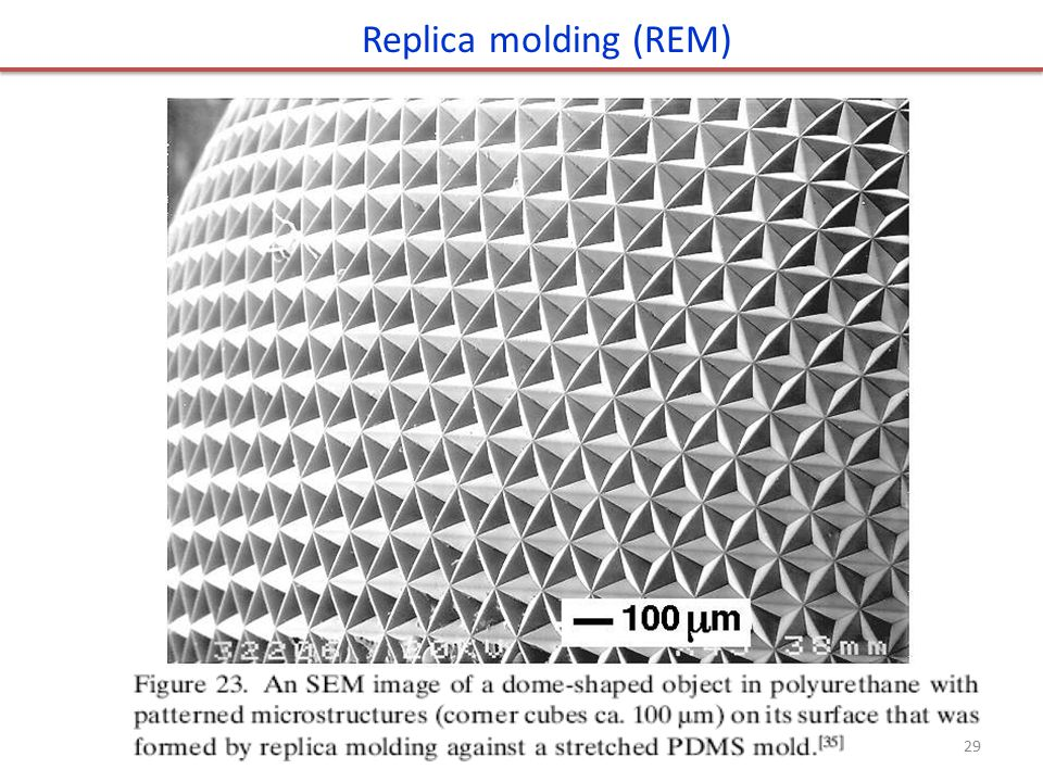 Replica molding (REM)