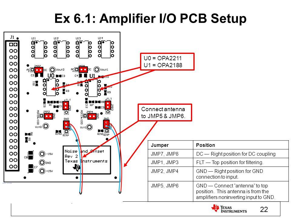 Ex 6.1: Amplifier I/O PCB Setup