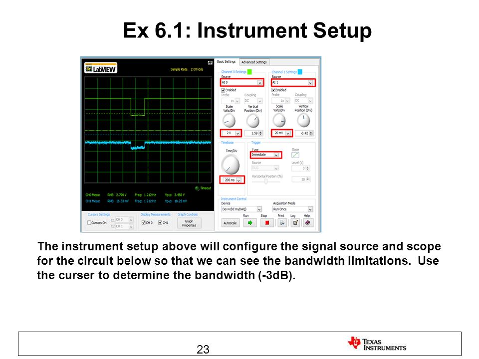 Ex 6.1: Instrument Setup