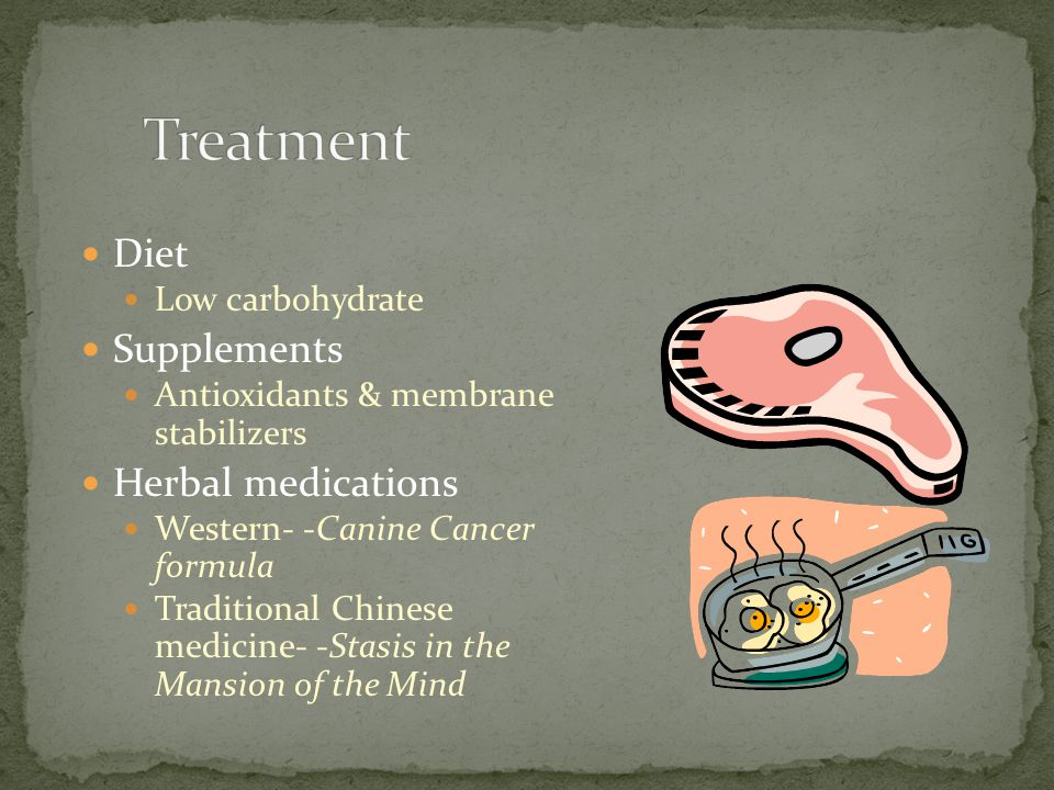 Treatment Diet Supplements Herbal medications Low carbohydrate