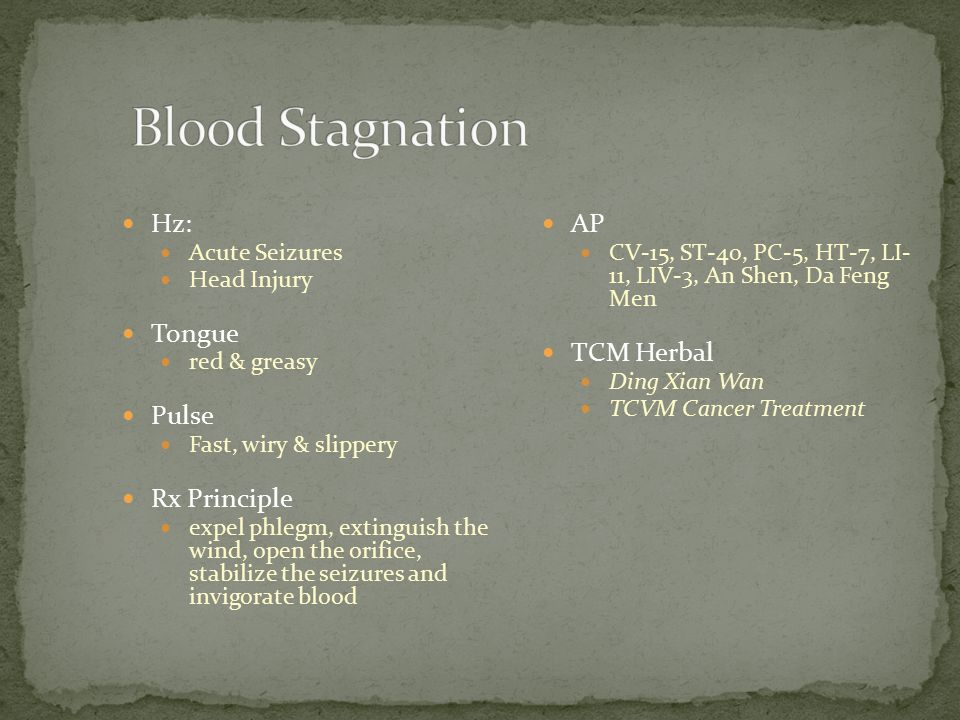 Blood Stagnation Hz: Tongue Pulse Rx Principle AP TCM Herbal