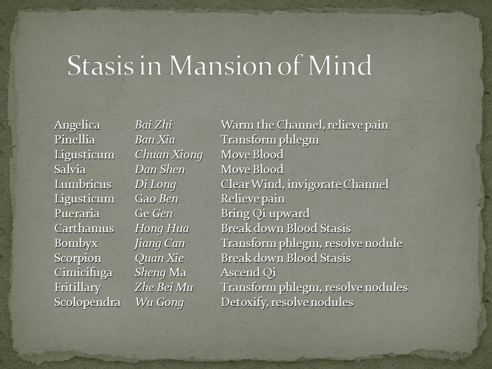 Stasis in Mansion of Mind
