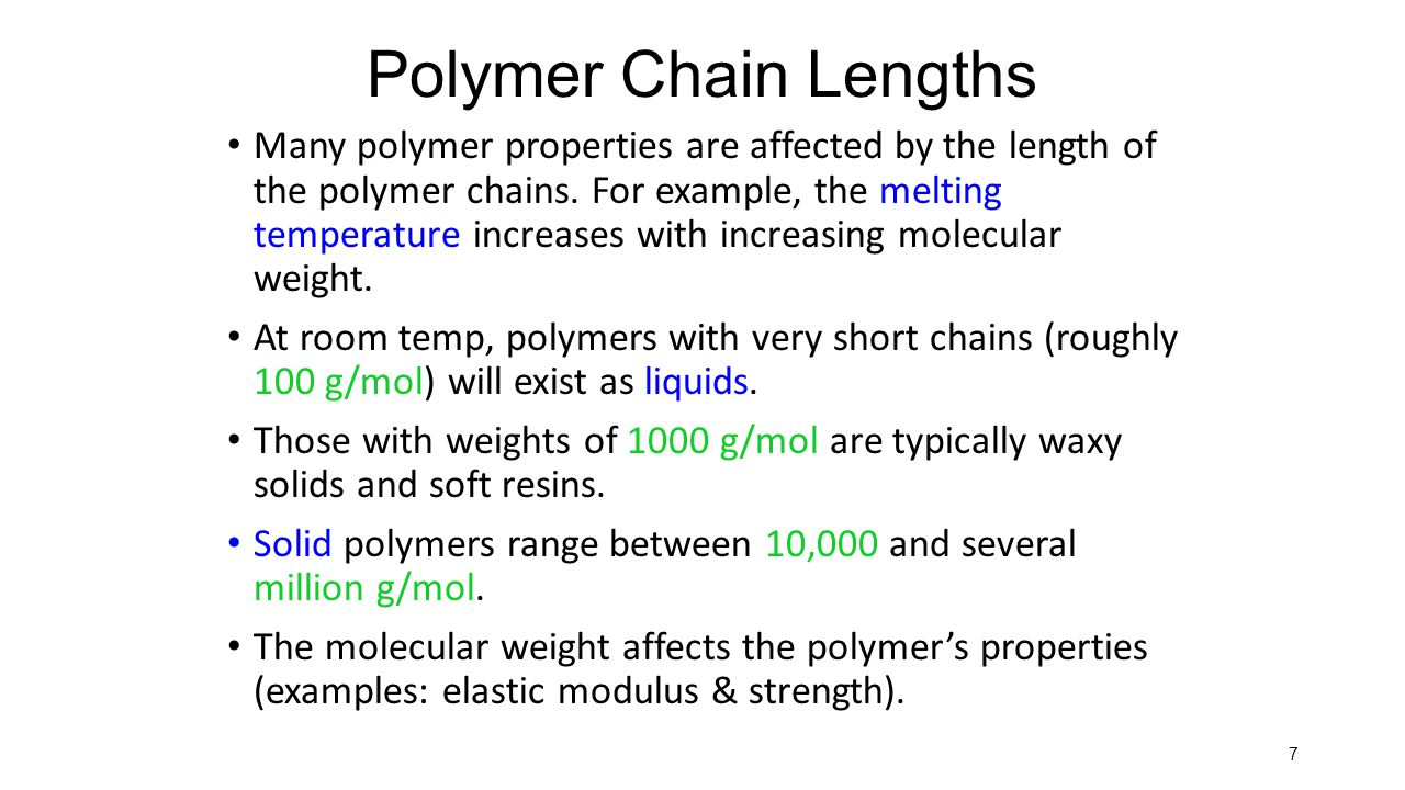 Polymer Chain Lengths