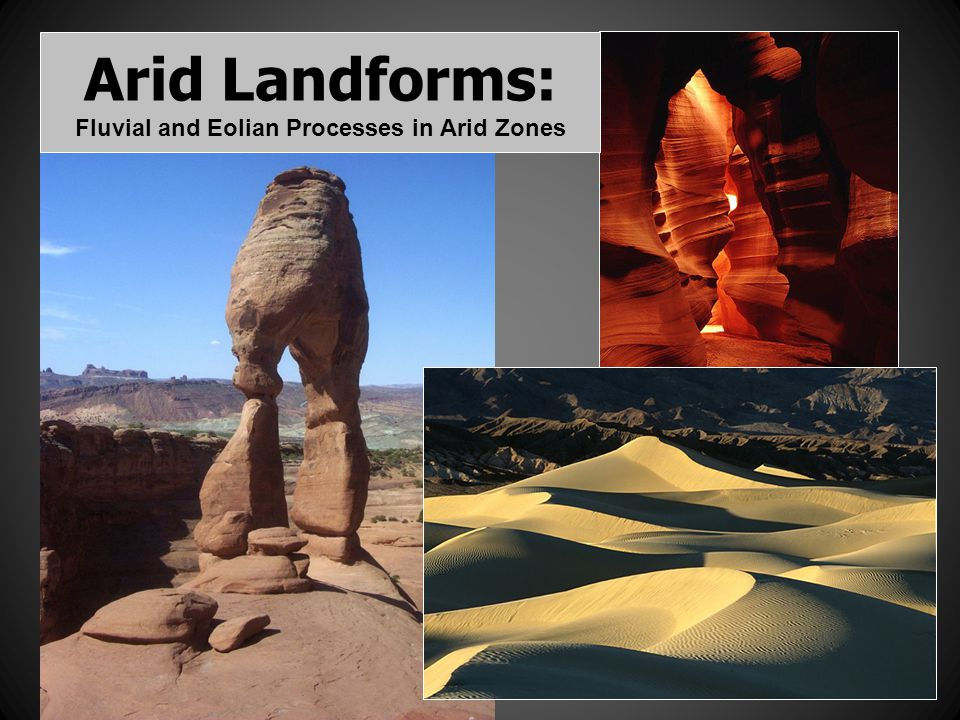 Arid Landforms: Fluvial and Eolian Processes in Arid Zones
