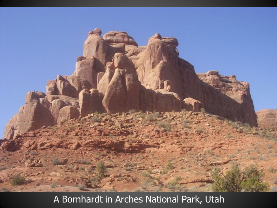 A Bornhardt in Arches National Park, Utah
