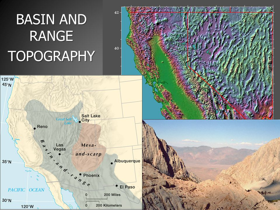 BASIN AND RANGE TOPOGRAPHY
