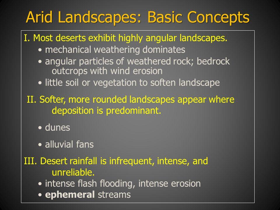 Arid Landscapes: Basic Concepts