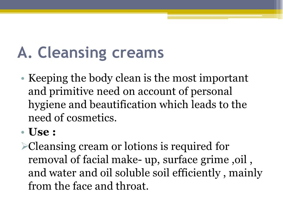 A. Cleansing creams