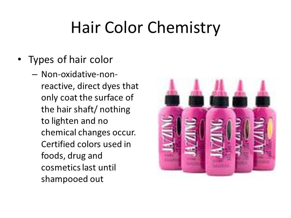 Hair Color Chemistry Types of hair color