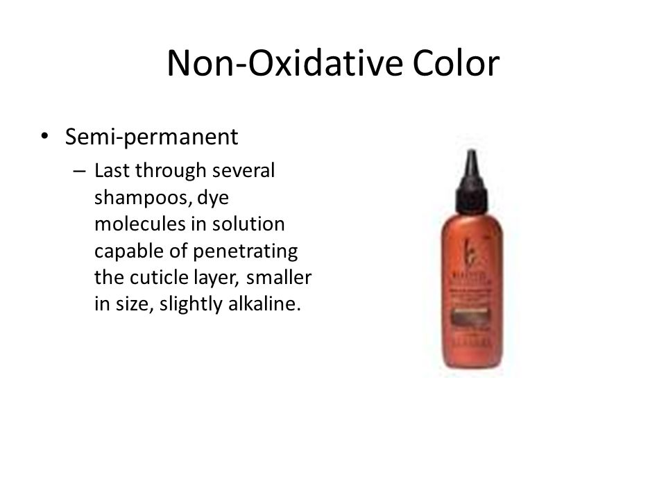 Non-Oxidative Color Semi-permanent