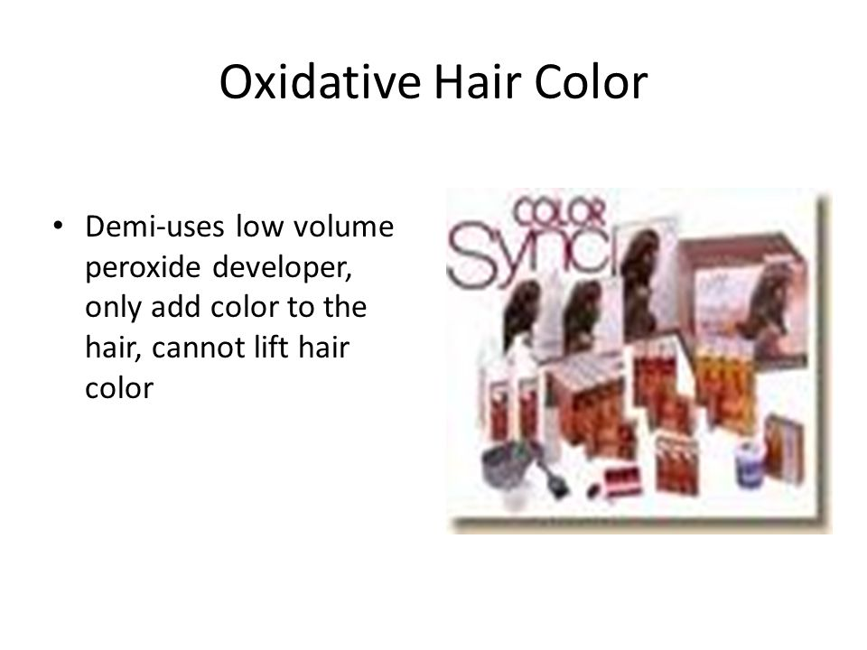 Oxidative Hair Color Demi-uses low volume peroxide developer, only add color to the hair, cannot lift hair color.