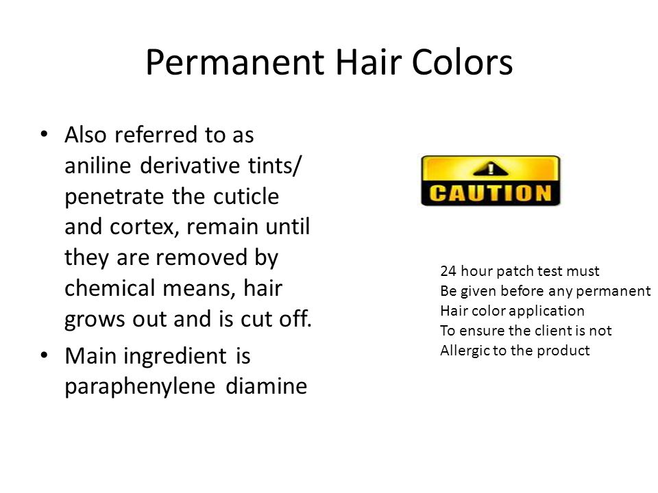 Permanent Hair Colors