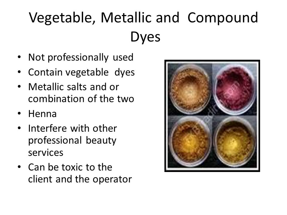 Vegetable, Metallic and Compound Dyes