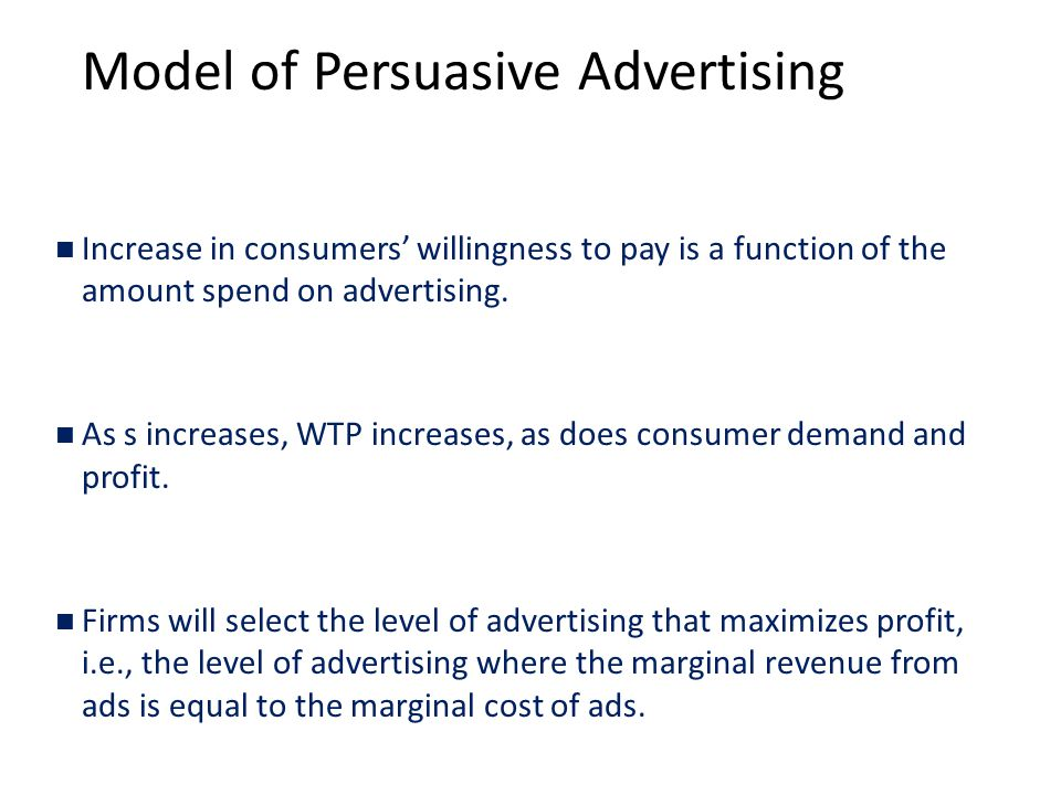 Model of Persuasive Advertising