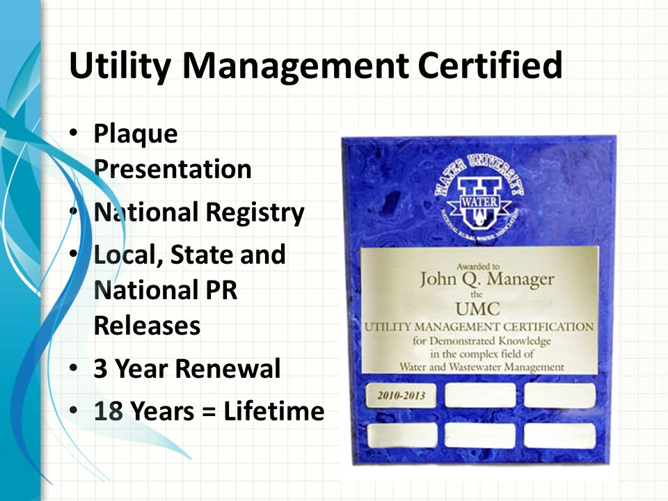 Utility Management Certified