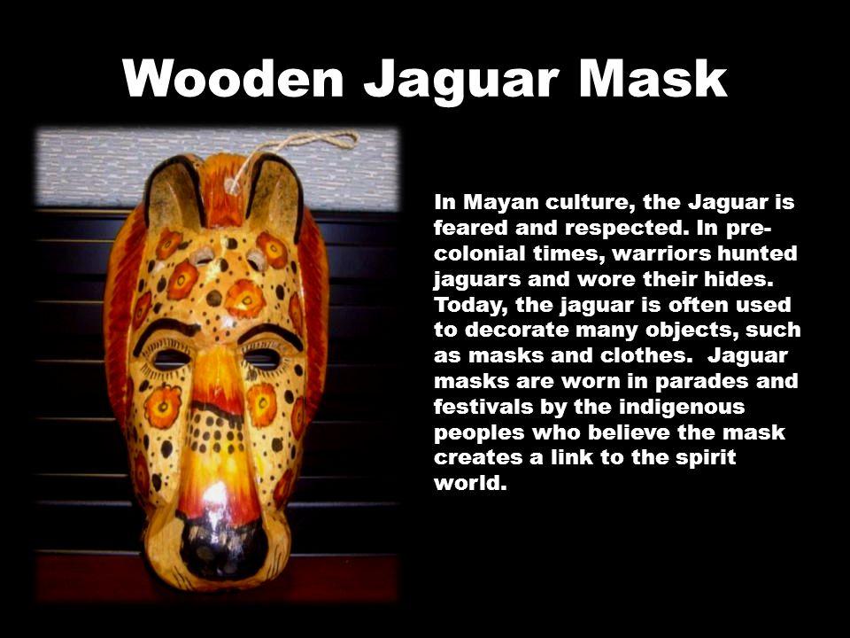 Wooden Jaguar Mask