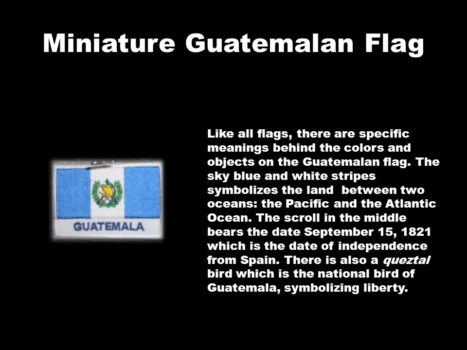 Miniature Guatemalan Flag