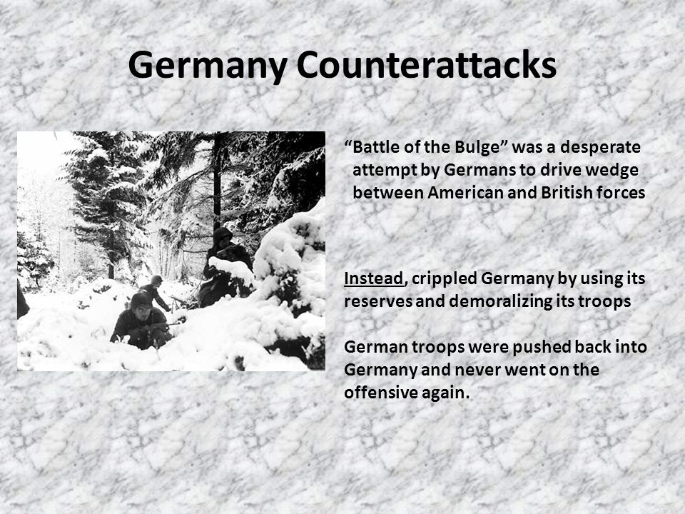 Germany Counterattacks