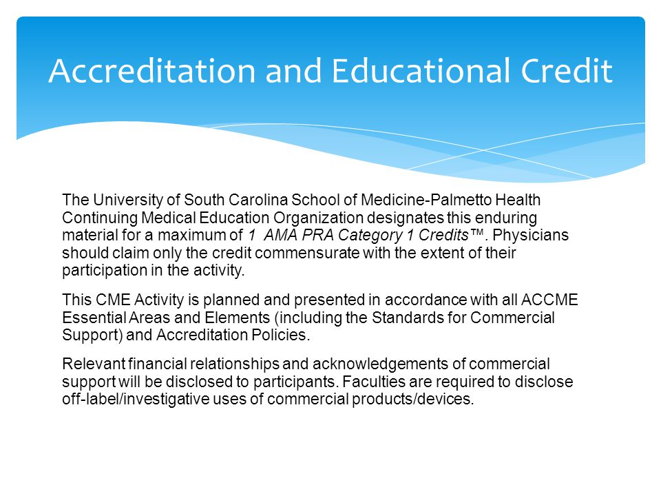 Accreditation and Educational Credit
