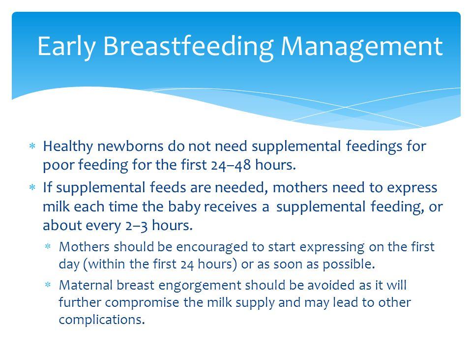 Early Breastfeeding Management
