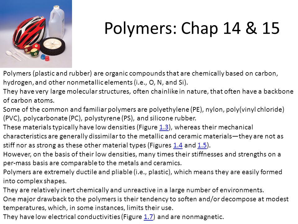 Polymers: Chap 14 & 15