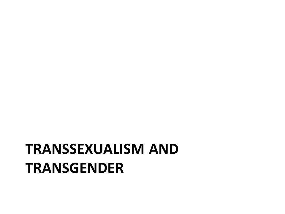transsexualism and transgender
